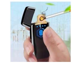 Korek Api Elektrik Heating Coil USB Lighter Finger Print