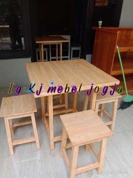 Promo murahhh set meja kursi cafe,resto,dll