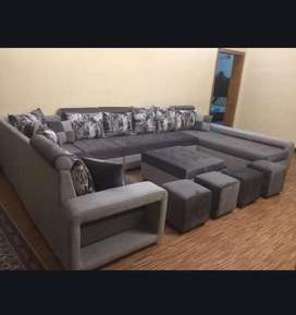 L shape sofa set. For big lounges