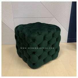 Sofa Stool Model Kotak Full Jok