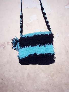 Woollen side purse