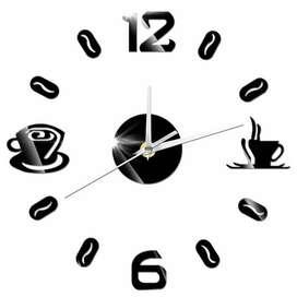 Siap COD Jam Dinding Raksasa Ukuran 50-60cm Desain Coffee
