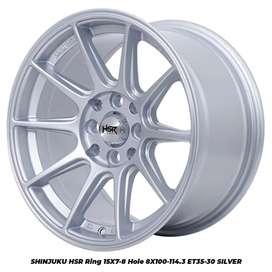 Velg Mobil Sigra Ring 15 Lubang 4 Pelak Terbaru Pelek Racing R15 HSR