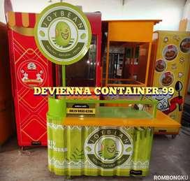 Booth Container minuman murah dan kekinian .