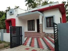 2 bhk 800 sqft 3.25 cent new build  at paravur aluva road thattampady