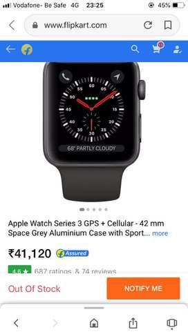 Apple watch series 3 gps + cellular -42 mm