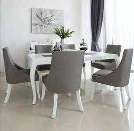 Meja makan minimalis jatinan