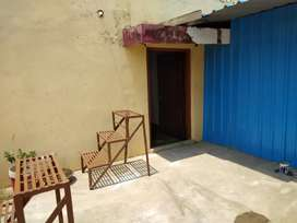 1 bhk house with extra shade room.