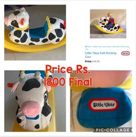 Little tikes soft rocking cow