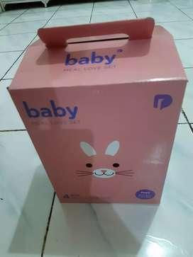 Baby Meal Love Set Baby Girl (Tempat makan Bayi Girl)