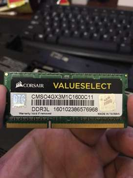 Sodimm Ram Laptop Corsair 4gb DDR3L