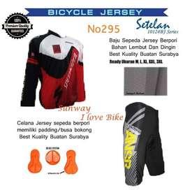 AF207 Harga Promo COD Setelan Baju Dan Celana Sepeda Gratis Onkir