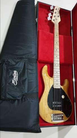 Musicman Sterling Ray 35 (5 string) & zoom b3n