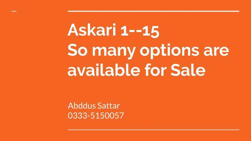 Askari 1 to askari 15  options are available for sale 0