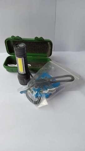 Senter mini Led + karet silicon