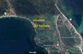 Tanah pinggir pantai di Gili Gede Sekotong