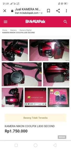 Jual kamera Nikon Coolpix L830
