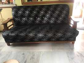 Newly renovated teak wood sofa. Interested ones msg me.