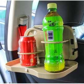 Travel Dining Tray Meja Portable Mobil - Meja Lipat Tempat Botol Minum