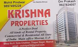 Flat available for sale at Begum Bagh Meerut