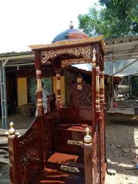 mimbar masjid kubah elegan new