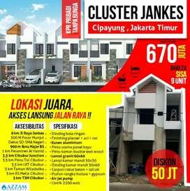 Rumah 2 lantai harga ekonomis di Jakarta Timur Akses pinggir Jalan