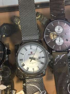Jam tangan naviforce simple rantai pasir putih original