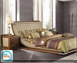 Super bed with side tables