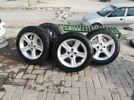 Tyre nd alloy rims