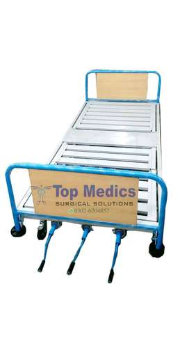 Manual patient Bed Hospital Fowler Bed, Mild Stee