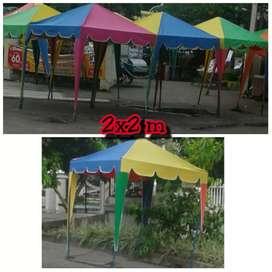 Jual tenda kafe ukuran 2x2 m baru. Bisa bantu antar