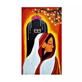 Shivagaami! - Beautiful Acrylic Painting.