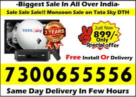 Buy Now! Tata Sky DTH Tatasky Dishtv Airteltv DTH Free Amazon Fire Tv!