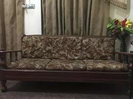 5 seater sofa, bed, showcase, study table