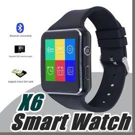 Jam pintar smartwatch X6 (layar curved) support kartu gsm