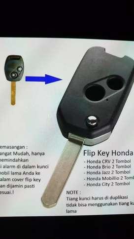 Kunci lipat flip key honda old brio mobilio jazz city crv accord