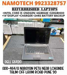 CERTIFIED REFERBRISHED LAPTOP DELL 6420(I5/4GBRAM/320GBHDD) LIKE NEW