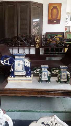 Keramik gajah 4 biji