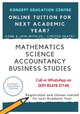 6th - 12th Tuition - Science, Maths, Accountancy & Business Studies