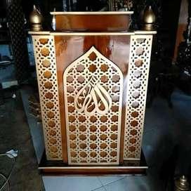 mimbar masjid model simple musola
