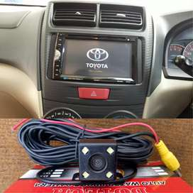 Head unit TV mirroring plus kamera buat Avanza