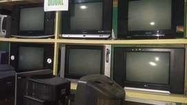 """Jual tv tabung second 14""""&21""""berbagai merk harga bervariasi &brgnsi"""