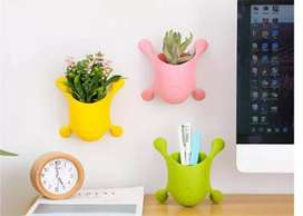 Office Decoration Creative Flower Pot Wall-Mounted Window Vases Desk P