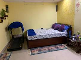 A furnished flat covering 667 sqft is for sell