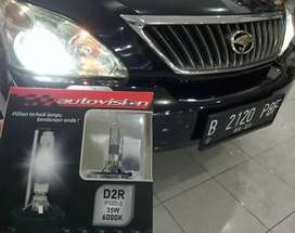Bohlam HID Autovision Carbon D2S D2R Odyssey, BMW, Mercy Garansi 2thn