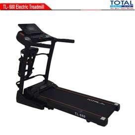 Alat Fitnes Treadmil Listrik Total motor 2 HP TL680 Garansi Murah COD