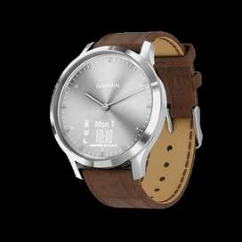 Garmin VIVOMOVE HR Premium - Silver Brown