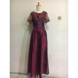 Dress atas bawah 1 set ungu violet / preloved /  dress bekas