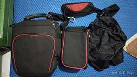 TAS KAMERA DSLR + LENSA POCKET (INCLUDE RAIN COVER)