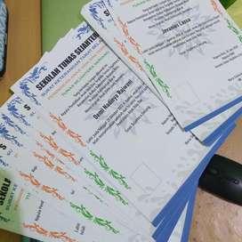 Cetak sertifikat print sertifikat F4